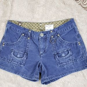 Free People 1970 corduroy shorts